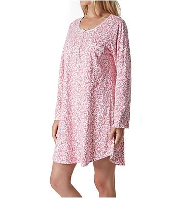 Eileen West Red Leafy Cotton Short Sleepshirt