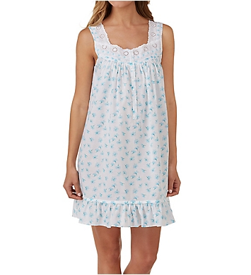 Eileen West Seaglass Cotton Lawn Short Chemise