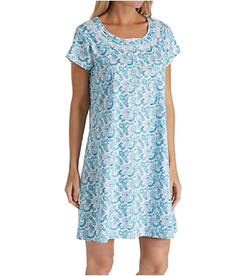 Eileen West Seaglass Cotton Short Sleepshirt