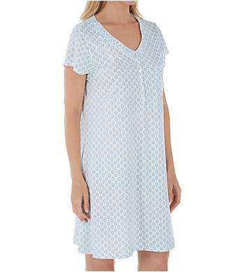Eileen West 100% Cotton Jersey Short Nightshirt