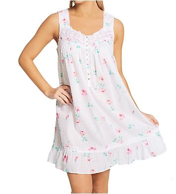 Eileen West 100% Cotton Short Sleeveless Nightgown
