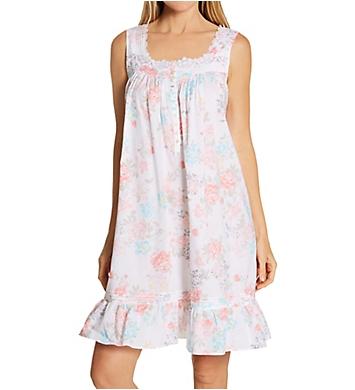 Eileen West Woven Cotton Lawn Sleeveless Short Nightgown