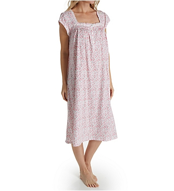 Eileen West Ditsy Short Sleeve Long Gown