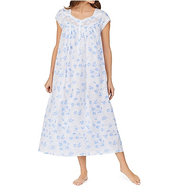 Eileen West Floral Paisley Cotton Lawn Ballet Nightgown