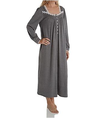 Eileen West Cotton Interlock Long Sleeve Ballet Nightgown