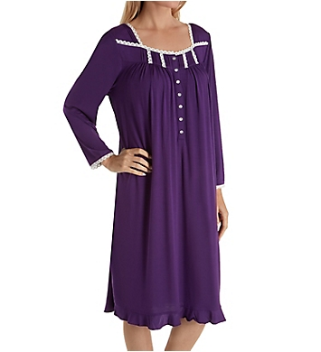 Eileen West Plum Modal Waltz Long Sleeve Gown
