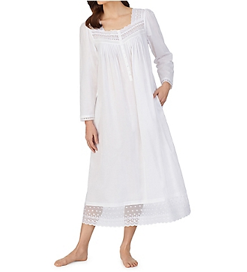 Eileen West 100% Cotton Long Sleeve Ballet Nightgown