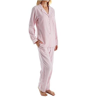 Eileen West Ruby Flannel Notch Collar Pajama