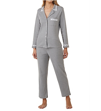 Eileen West Ruby Cotton Interlock Notch Collar Pajama