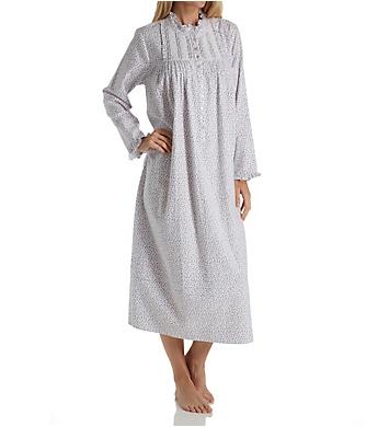 Eileen West Ruby Flannel High Neck Ballet Nightgown