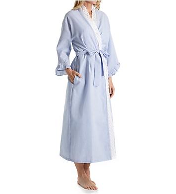 Eileen West Seersucker Ballet Wrap Robe
