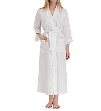Eileen West Floral Embroidery Ballet Wrap Robe