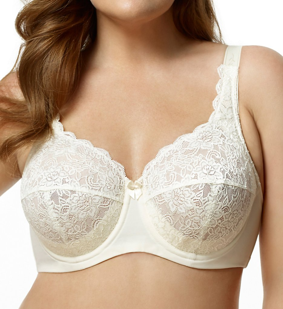 Elila 2311 Full Coverage Stretch Lace Underwire Bra (Ivory)