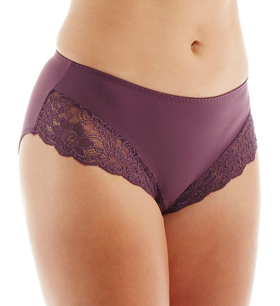 Elila Microfiber & Stretch Lace Panties