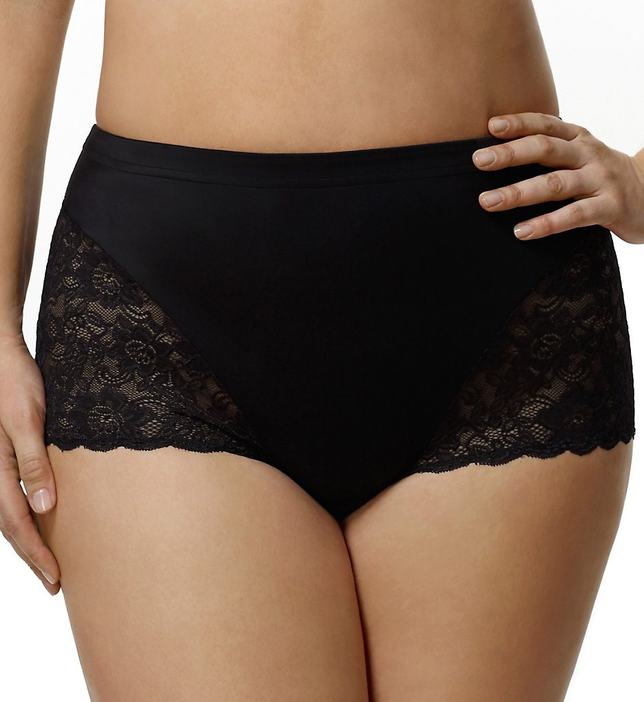 Elila >> Elila 3311 Cheeky Stretch Lace Panties (Black 2X)