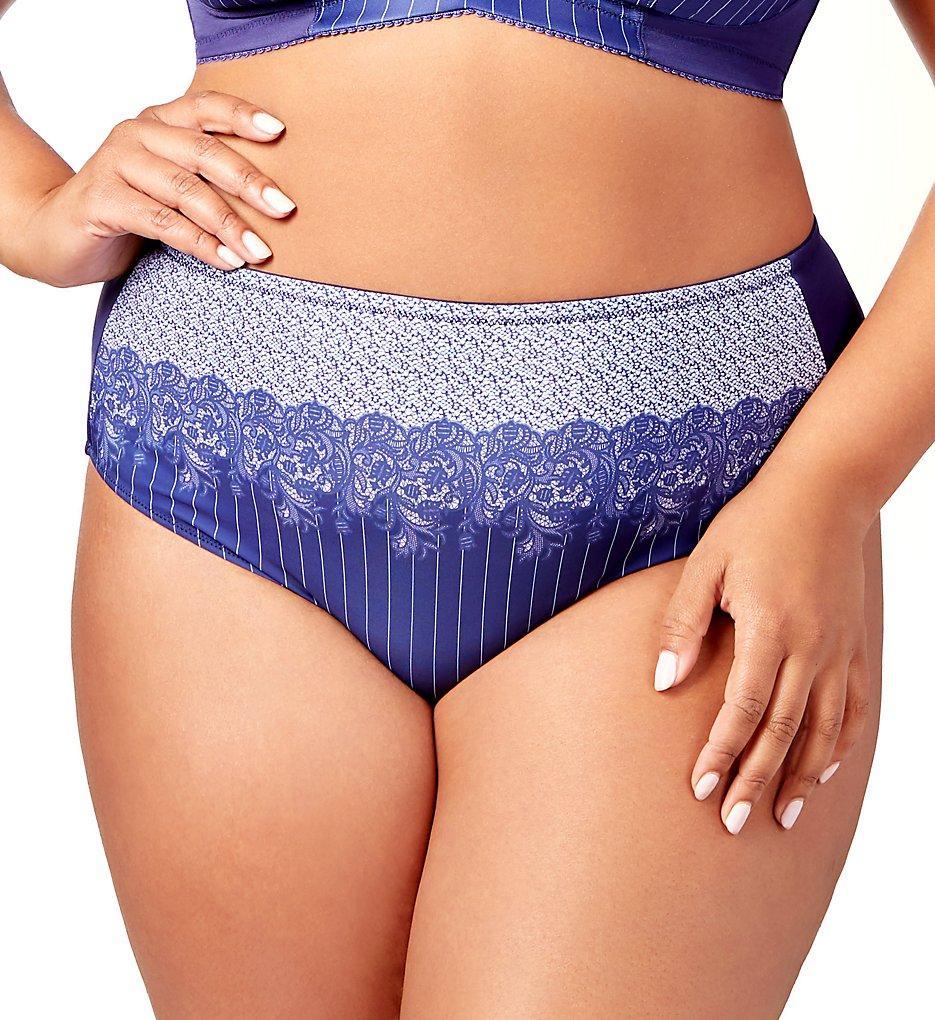 Elila : Elila 3817 Printed Lace Panty (Pinstripe 2X)