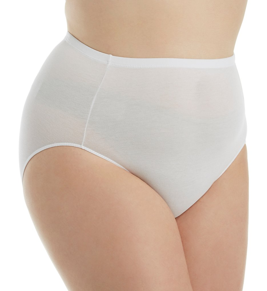 Elita - Elita 4000 The Essentials Cotton Full Brief Panty (White S)