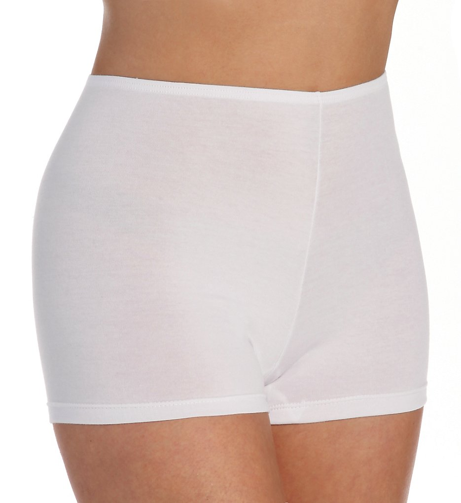 Elita - Elita 4070 The Essentials Cotton Boyshort Panty (White S)
