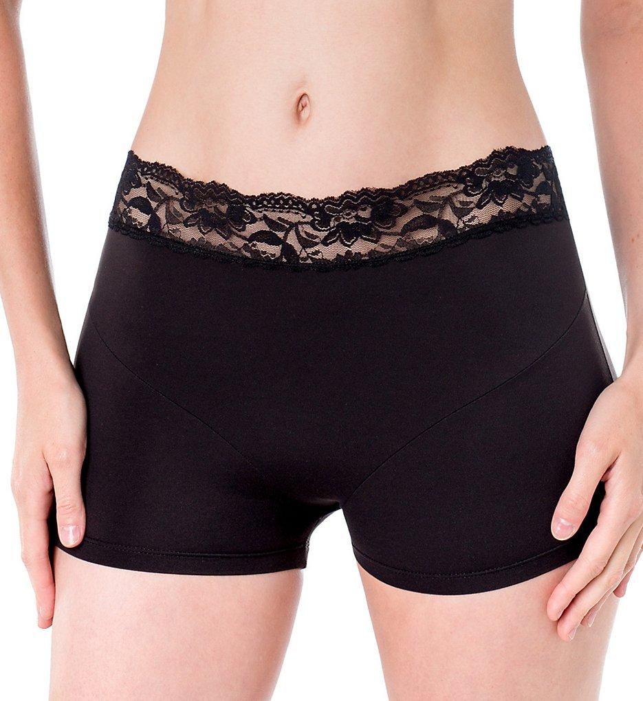Elita 8856 Silk Magic Boyshort Panty with Lace Trim