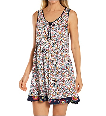 Ellen Tracy Floral Sleeveless Chemise