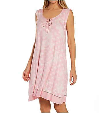 Ellen Tracy Spandex Jersey Short Sleeve Chemise