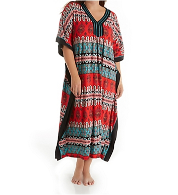 Ellen Tracy Medallion Long Caftan