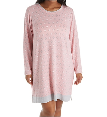 Ellen Tracy Cozy Sweater Knit Sleepshirt with Matching Socks