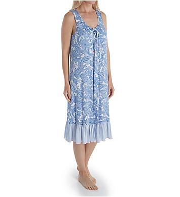 Ellen Tracy Sail Away Midi Gown with Shelf Bra