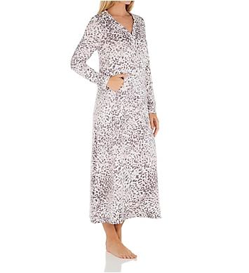 Ellen Tracy Sweater Knit Long Sleeve Lounger Caftan