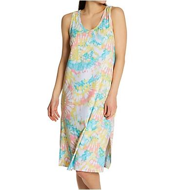 Ellen Tracy Tye Dye Midi Lounge Dress