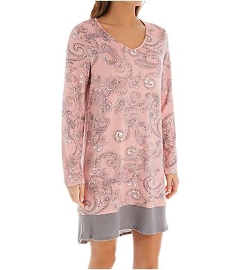 Ellen Tracy Sweater Knit Long Sleeve Sleepshirt