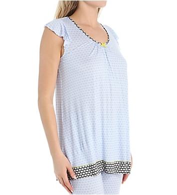 Ellen Tracy Tranquil Short Sleeve Top