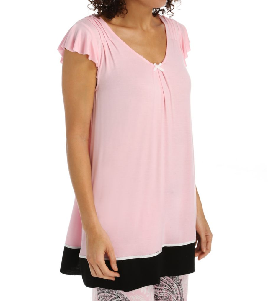 Ellen Tracy Romantic Spirit Short Sleeve Top