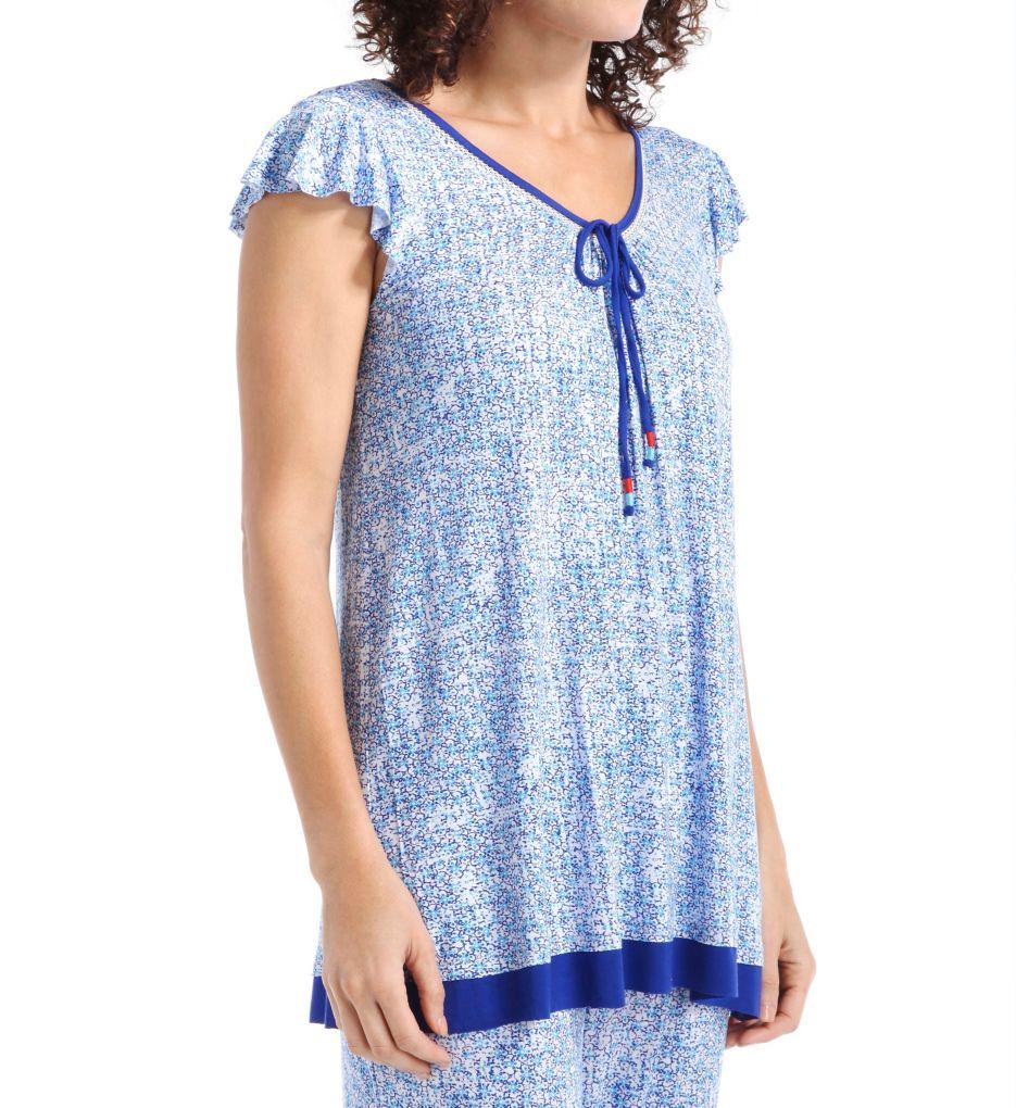 Ellen Tracy Morocco Short Sleeve Top