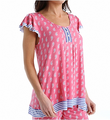 Ellen Tracy Chic Short Sleeve Top