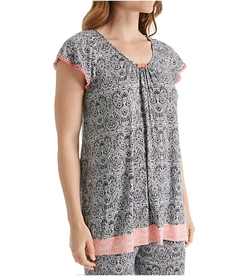 Ellen Tracy Soho Short Sleeve Top