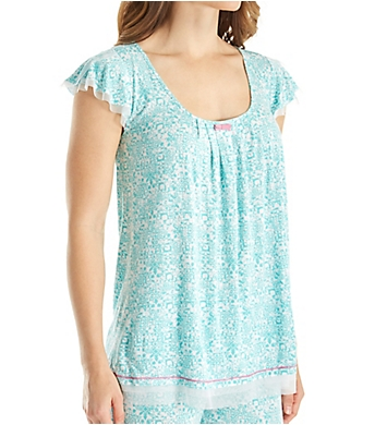 Ellen Tracy Coastal Charm Short Sleeve Top