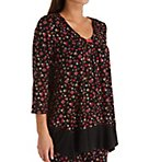 Midnight Floral 3/4 Sleeve Top