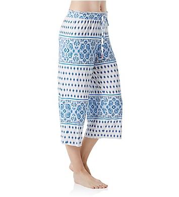 Ellen Tracy Paradise Ashore Wide Leg Crop Pant
