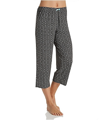 Ellen Tracy Spring Geo Paisley Cropped Pant