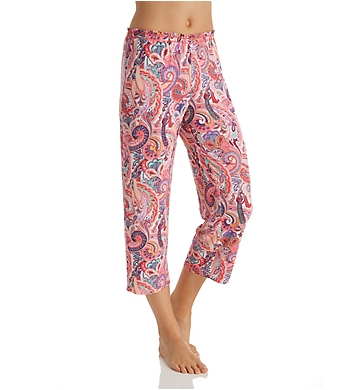Ellen Tracy Spring Paisley Cropped Pant