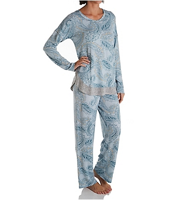 Ellen Tracy Sweater Knit PJ Set with Matching Headband