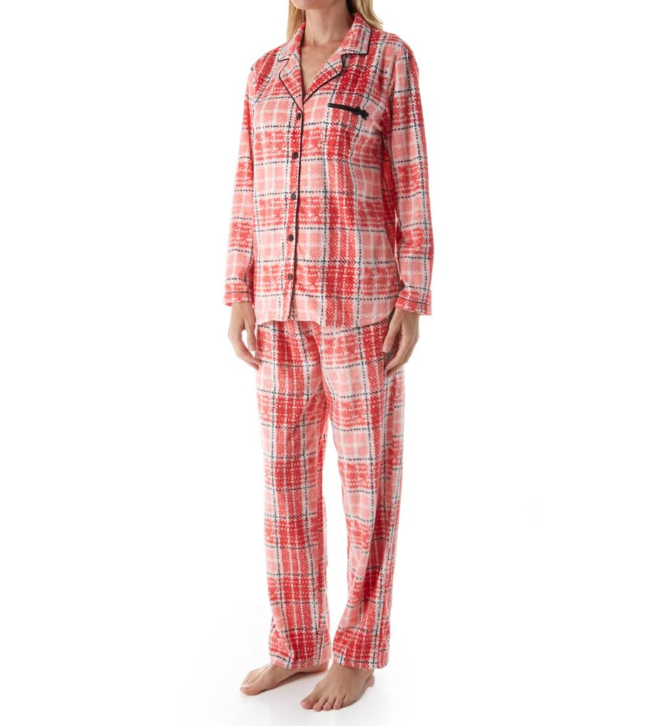 Ellen Tracy Fleece Notch PJ Set