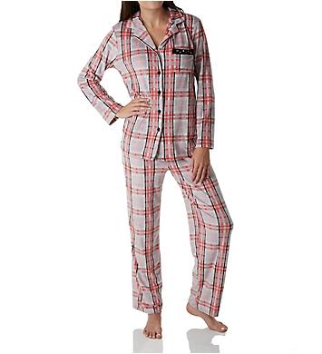Ellen Tracy Essential Velour Long Sleeve Pajama Set