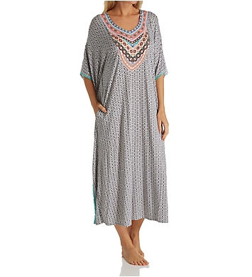 Ellen Tracy Spring Geo Long Caftan