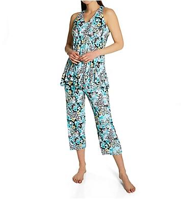Ellen Tracy Bloom Cropped Pant PJ Set