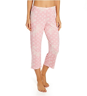 Ellen Tracy Spandex Jersey Cropped Pant