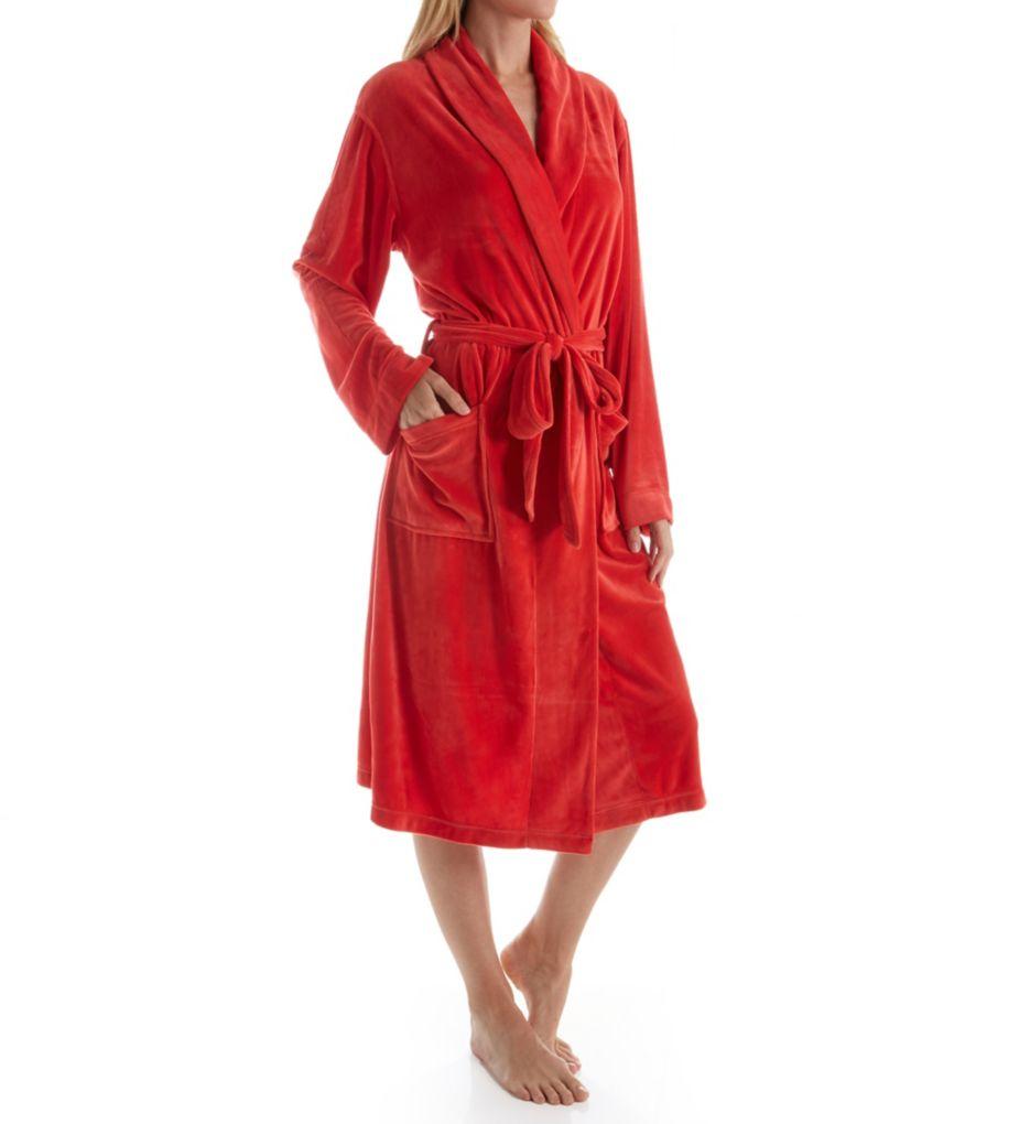 Ellen Tracy Fleece Wrap Robe
