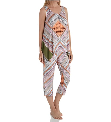 Ellen Tracy Geo Patchwork Tank PJ Set