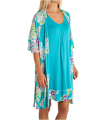 Ellen Tracy Two Piece Robe and Gown Resort Set